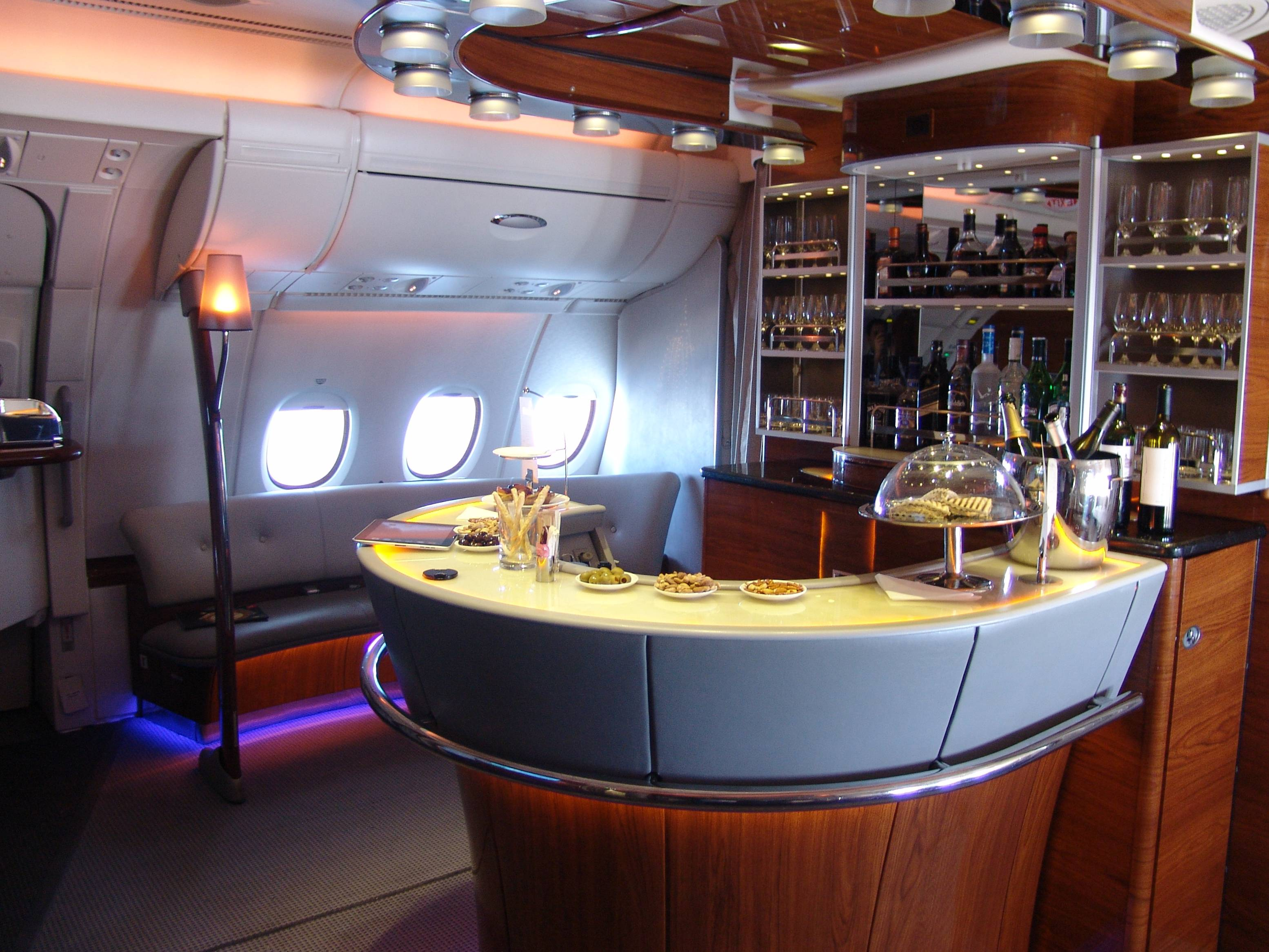 The A380 Emirates Onboard Lounge | 21st Century Journeys